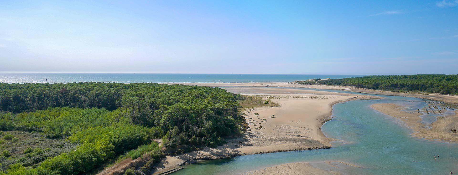 la plage du Veillon et la Guittière